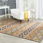 Zahr Orange/Brown Area Rug Rug Size: Round 6'7