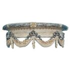 Swag Canopy Bed Crown Color: Creame Gold Silver