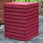 Conrad Outdoor Plank Side Table Finish: Kaihalulu Red