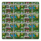 Educational Green Places To Go Area Rug Rug Size: Rectangle 12' x 18'