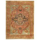 Serapi Hand-Knotted Wool Rust/Aqua Area Rug Rug Size: Rectangle 10' x 14'