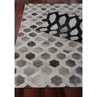Natural Hide Hand Woven Cowhide Beige/Blue Area Rug Rug Size: Rectangle 9'6