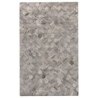 Natural Hide Hand-Tufted Cowhide Silver Area Rug Rug Size: Rectangle 6' x 9'