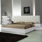 Matt Upholstered Platform Bed Size: Queen, Color: White