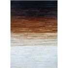 Ashlie Flat-woven Cowhide Black/Brown/Beige Area Rug Rug Size: Rectangle 3'6