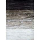 Ashlie Flat woven Cowhide Black/Gray Area Rug Rug Size: Rectangle 9'6