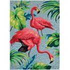 Wallingford Hand Hooked Red/Green/Blue Indoor/Outdoor Area Rug Rug Size: Rectangle 3'6