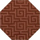 Dover Tufted Wool Coral Area Rug Rug Size: Octagon 4'