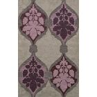 Bella Machine Woven Wool Gray/Purple Area Rug Rug Size: Square 4'