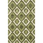 Bella Machine Woven Wool Green Area Rug Rug Size: Rectangle 6' x 9'