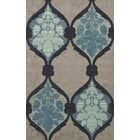 Bella Machine Woven Wool Gray/Blue Area Rug Rug Size: Oval 5' x 8'