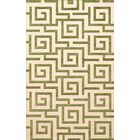 Bella Machine Woven Wool Beige/Green Area Rug Rug Size: Square 6'