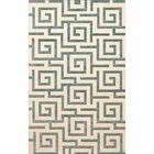 Bella Machine Woven Wool Beige/Gray Area Rug Rug Size: Rectangle 8' x 10'
