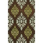 Bella Machine Woven Wool Brown/Blue Area Rug Rug Size: Rectangle 12' x 18'