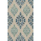 Bella Machine Woven Wool Beige/Blue Area Rug Rug Size: Oval 9' x 12'