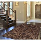 Arends Brown Sable Leaves Area Rug Rug Size: Rectangle 5'3