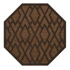 Dover Tufted Wool Caramel Area Rug Rug Size: Octagon 8'