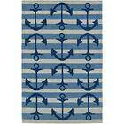 Bovina Hand-Tufted Blue/Ivory Area Rug Rug Size: Rectangle 3'6