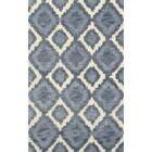Bella Machine Woven Wool Blue Area Rug Rug Size: Round 10'