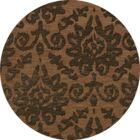 Bella Machine Woven Wool Brown Area Rug Rug Size: Round 4'