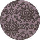 Bella Purple Area Rug Rug Size: Round 6'