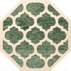 Bella Machine Woven Wool Green/Beige Area Rug Rug Size: Octagon 10'