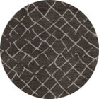 Bella Machine Woven Wool Gray Area Rug Rug Size: Round 8'