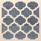 Bella Machine Woven Wool Blue/Beige Area Rug Rug Size: Square 10'
