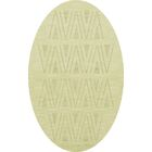 Bella Machine Woven Wool Beige Area Rug Rug Size: Oval 8' x 10'