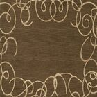 Bella Machine Woven Wool Brown Area Rug Rug Size: Square 4'
