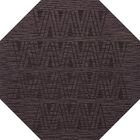 Bella Machine Woven Wool Purple Area Rug Rug Size: Octagon 4'