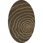 Bella Brown Area Rug Rug Size: Oval 4' x 6'