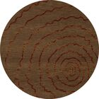 Bella Brown Area Rug Rug Size: Round 10'
