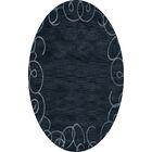 Bella Blue Area Rug Rug Size: Oval 3' x 5'