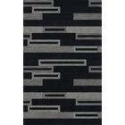 Bella Machine Woven Wool Black/Gray Area Rug Rug Size: Rectangle 10' x 14'