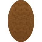 Bella Machine Woven Wool Brown Area Rug Rug Size: Oval 8' x 10'