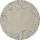 Bella Beige Area Rug Rug Size: Round 12'