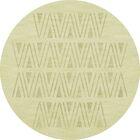 Bella Machine Woven Wool Beige Area Rug Rug Size: Round 12'