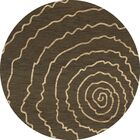 Bella Brown Area Rug Rug Size: Round 10'