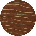 Bella Brown Area Rug Rug Size: Round 8'