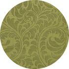 Bella Machine Woven Wool Green Pad Area Rug Rug Size: Round 6'