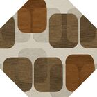 Bella Brown Area Rug Rug Size: Octagon 12'