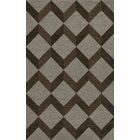 Bella Machine Woven Wool Gray/Brown Area Rug Rug Size: Rectangle 4' x 6'