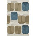 Bella Machine Woven Wool Gray/Brown Area Rug Rug Size: Rectangle 4' x 6'