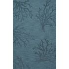 Bella Machine Woven Wool Blue Area Rug Rug Size: Rectangle 8' x 10'