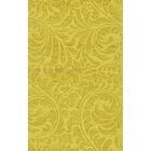 Bella Machine Woven Wool Yellow Area Rug Rug Size: Rectangle 9' x 12'