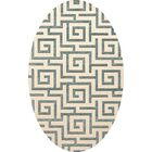 Bella Machine Woven Wool Beige/Gray Area Rug Rug Size: Oval 10' x 14'