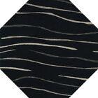 Bella Black Area Rug Rug Size: Octagon 8'