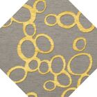 Bella Machine Woven Wool Gray Area Rug Rug Size: Octagon 12'