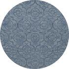 Bella Machine Woven Wool Blue Area Rug Rug Size: Round 6'
